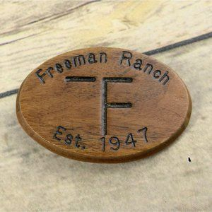 Freeman Ranch Belt Buckle Vintage Western Wear